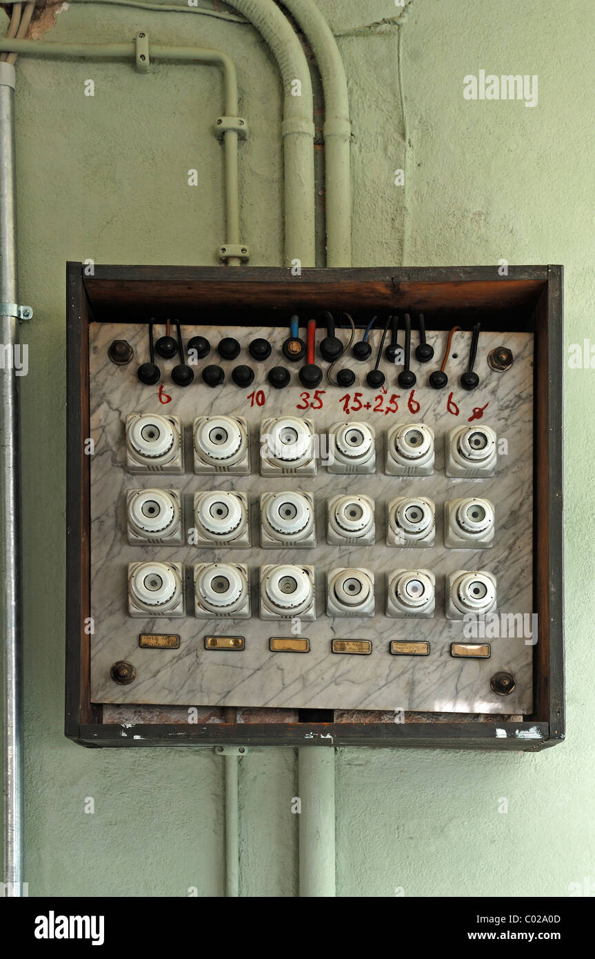 hight resolution of old fuse box from 1930 former factory of dietz pfriem now museum old fuse box 240 volt line for dryer old fuse box