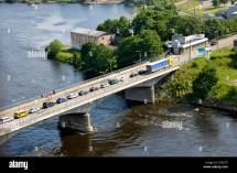 Bridge Narva River Border Estonia And