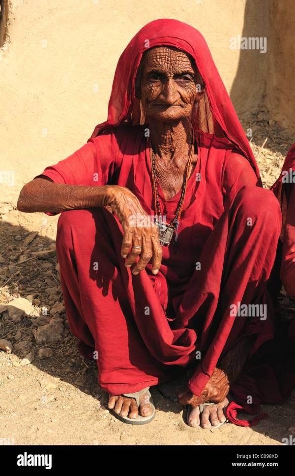Indian Village Woman Stock &