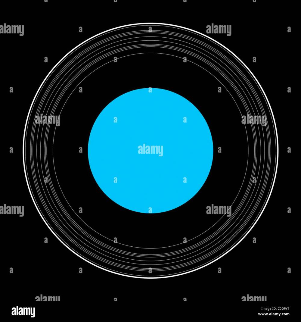 medium resolution of an illustration showing the details of the rings of uranus stock image