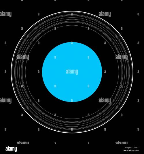 small resolution of an illustration showing the details of the rings of uranus stock image