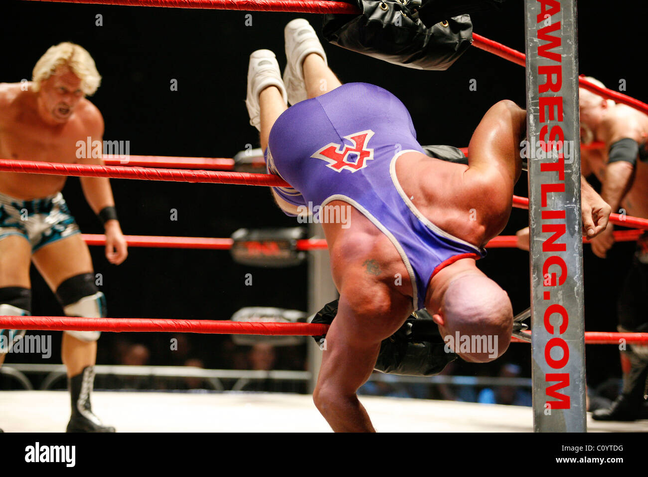 steel chair in wrestling covers for kitchen tna stock photos and images