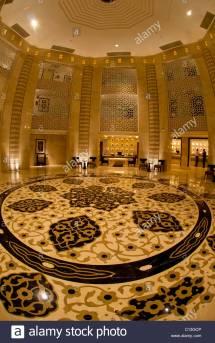Hilton Hotel Lobby Stock &