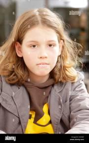 boy 10 years with long hair