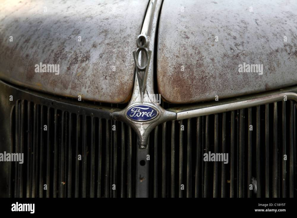 medium resolution of 1936 ford coupe hood badge v8 stock image