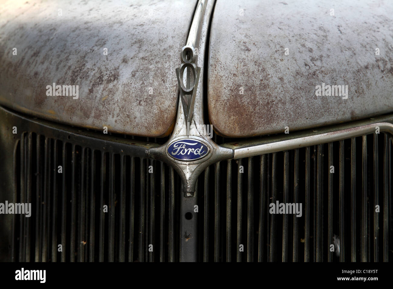 hight resolution of 1936 ford coupe hood badge v8 stock image