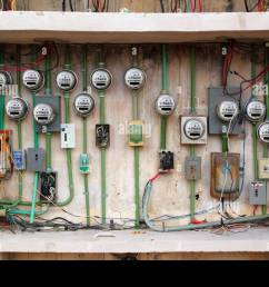 dangerous electric meter messy faulty electrical wiring installation [ 1300 x 956 Pixel ]