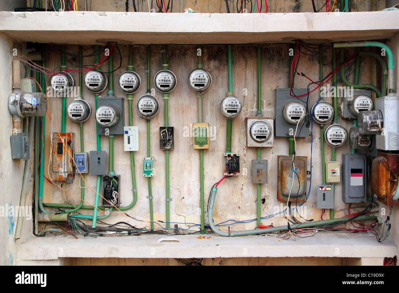 hight resolution of dangerous electric meter messy faulty electrical wiring installation