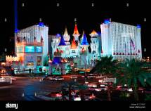 Excalibur Hotel And Casino Las Vegas Night With Busy