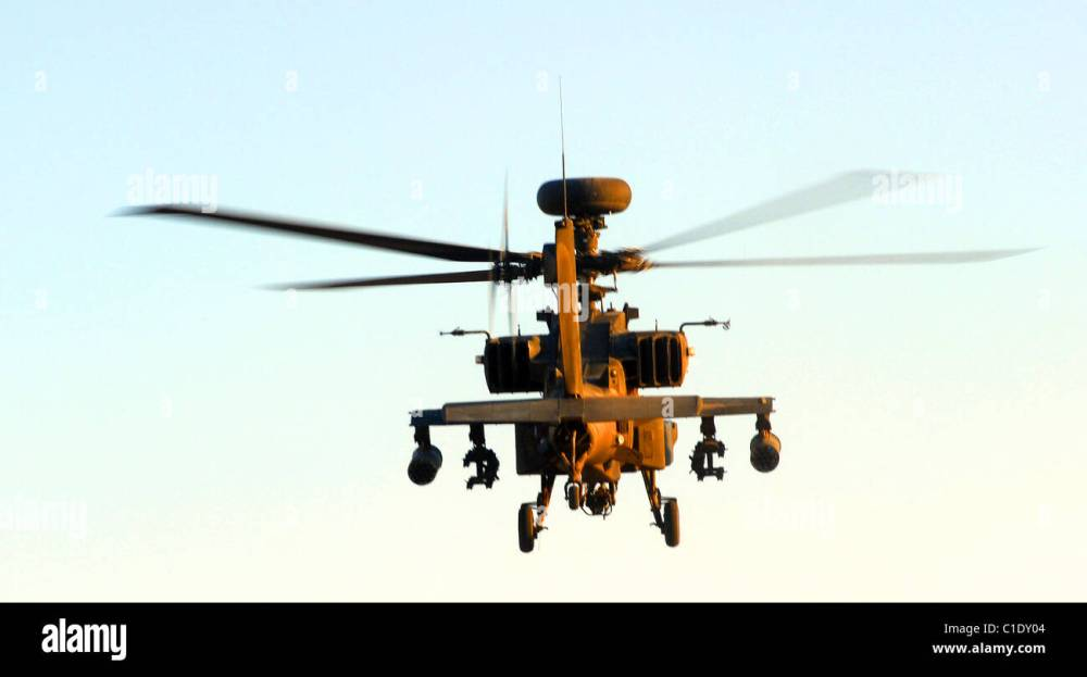 medium resolution of the ah 64 apache is a four blade attack helicopter with reverse tricycle