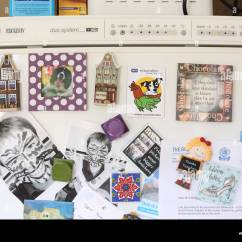 Kitchen Magnets Metallic Wall Tiles Refrigerator Stock Photos Fridge Home Reminders Image