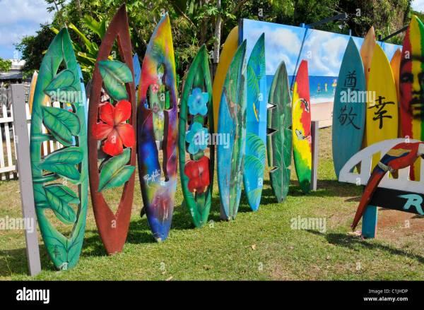 Surfboard Art Gallery Haleiwa North Shore Hawaii Oahu