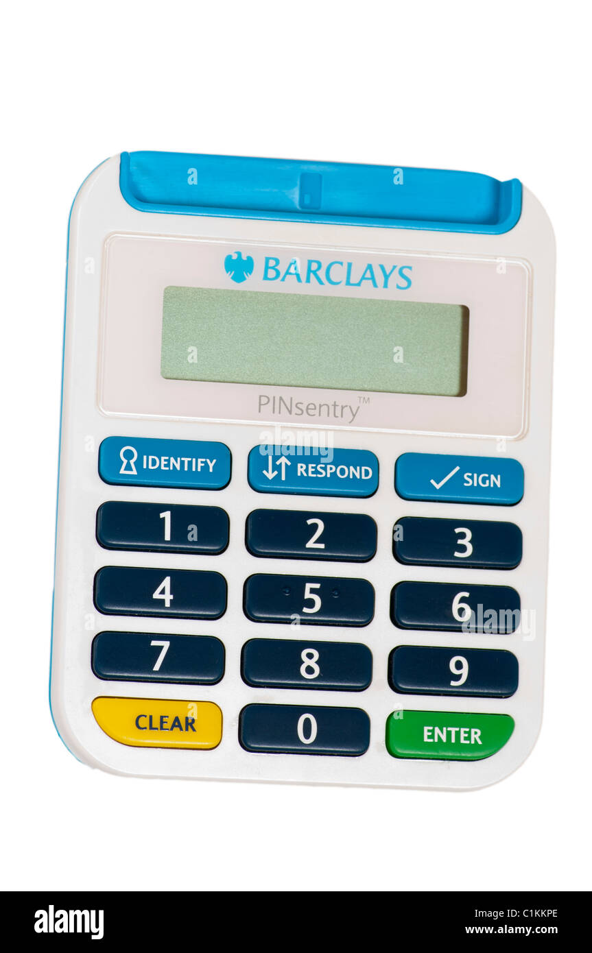 Barclays Online Banking Pinsentry Card Reader Stock Photo Alamy