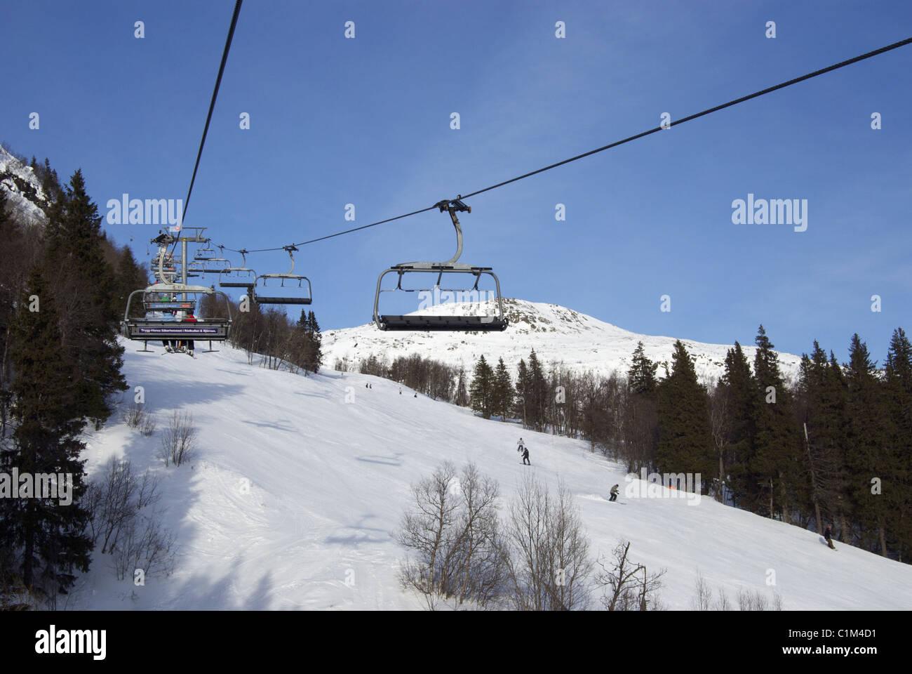 buy ski lift chair white bonded leather office vm6 in resort of Åre are sweden stock