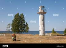 Motor Scooter Lighthouse In Nina Village Tartu County
