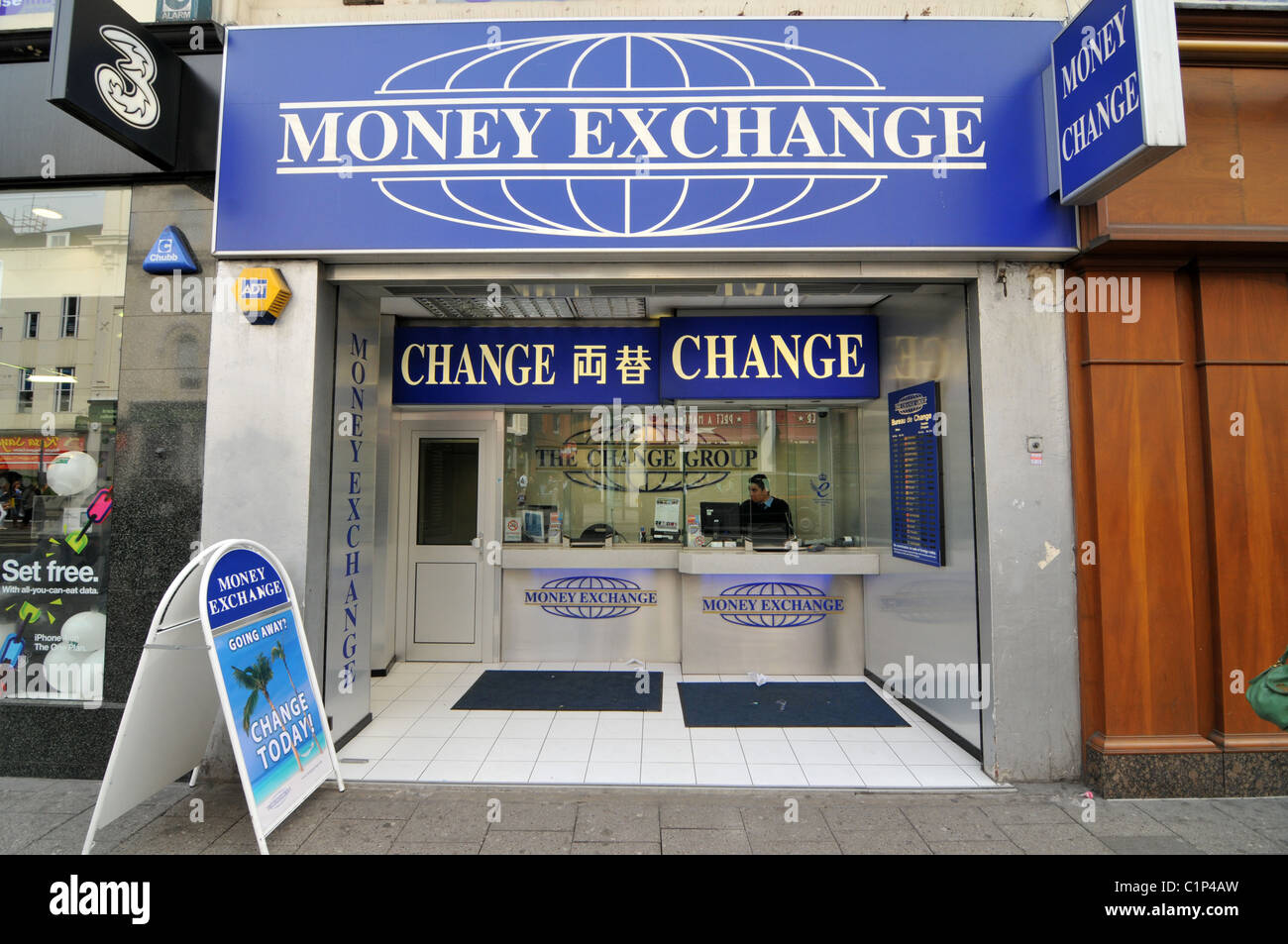 money exchange cambio bureau de change travel cash money stock photo royalty free image