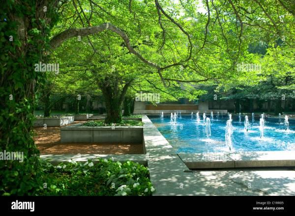 Art Institute Chicago Garden Stock &