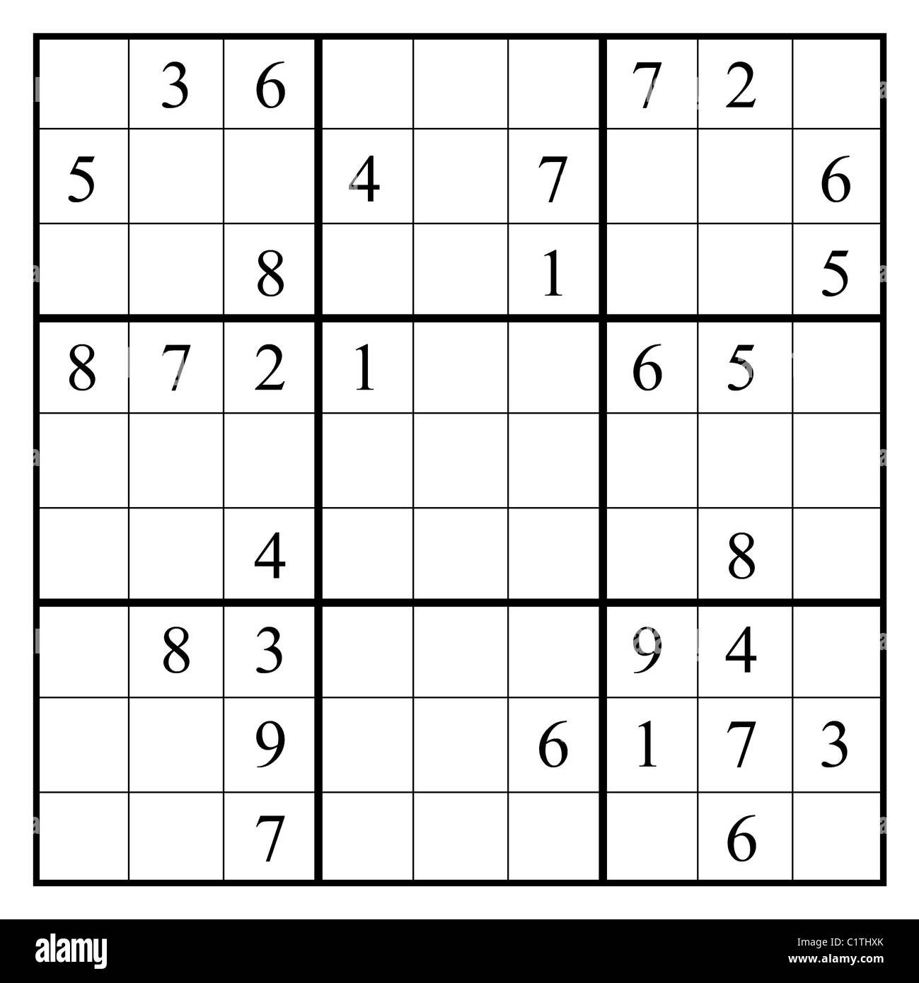 Sudoku Puzzle With Layout In The Form Of The Numerals