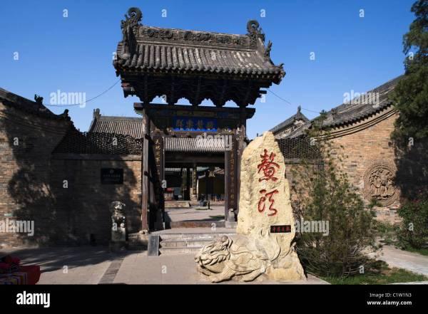 Facade Of Temple Confucius Pingyao Shanxi