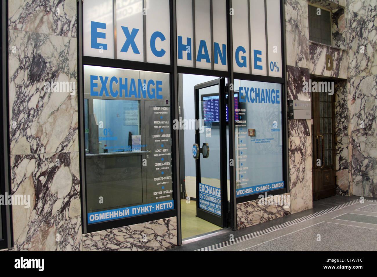 bureau de change 0 commission money exchange shop in prague czech republic