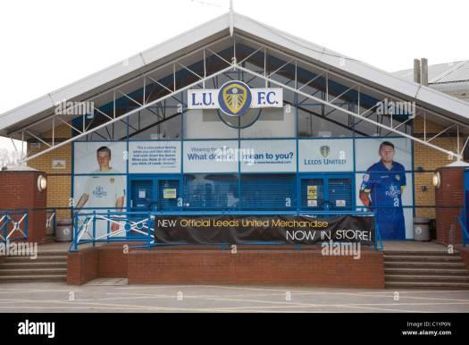 Leeds United store outside the Elland Road Stadium at ...