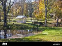 Luke Manor And Park In Fall Tartu County Estonia Stock