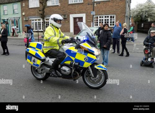 small resolution of dorset police motorcyclist rides his bmw patrol bike along wootton bassett high street during the ride