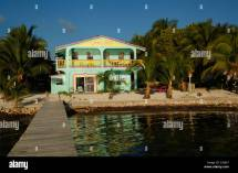 Caye Caulker Belize Barefoot Beach Stock &
