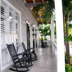 Key West Chairs Kitchen Table And Cheap Tropical Tranquil Relaxing Front Porch With Rocking Fl Simonton Inn