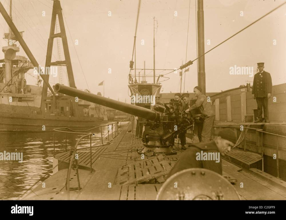 medium resolution of german u boat at navy yd stock image