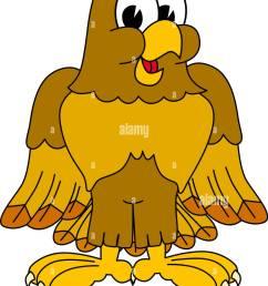 cartoon hawk eagle or falcon mascot clip art [ 990 x 1390 Pixel ]