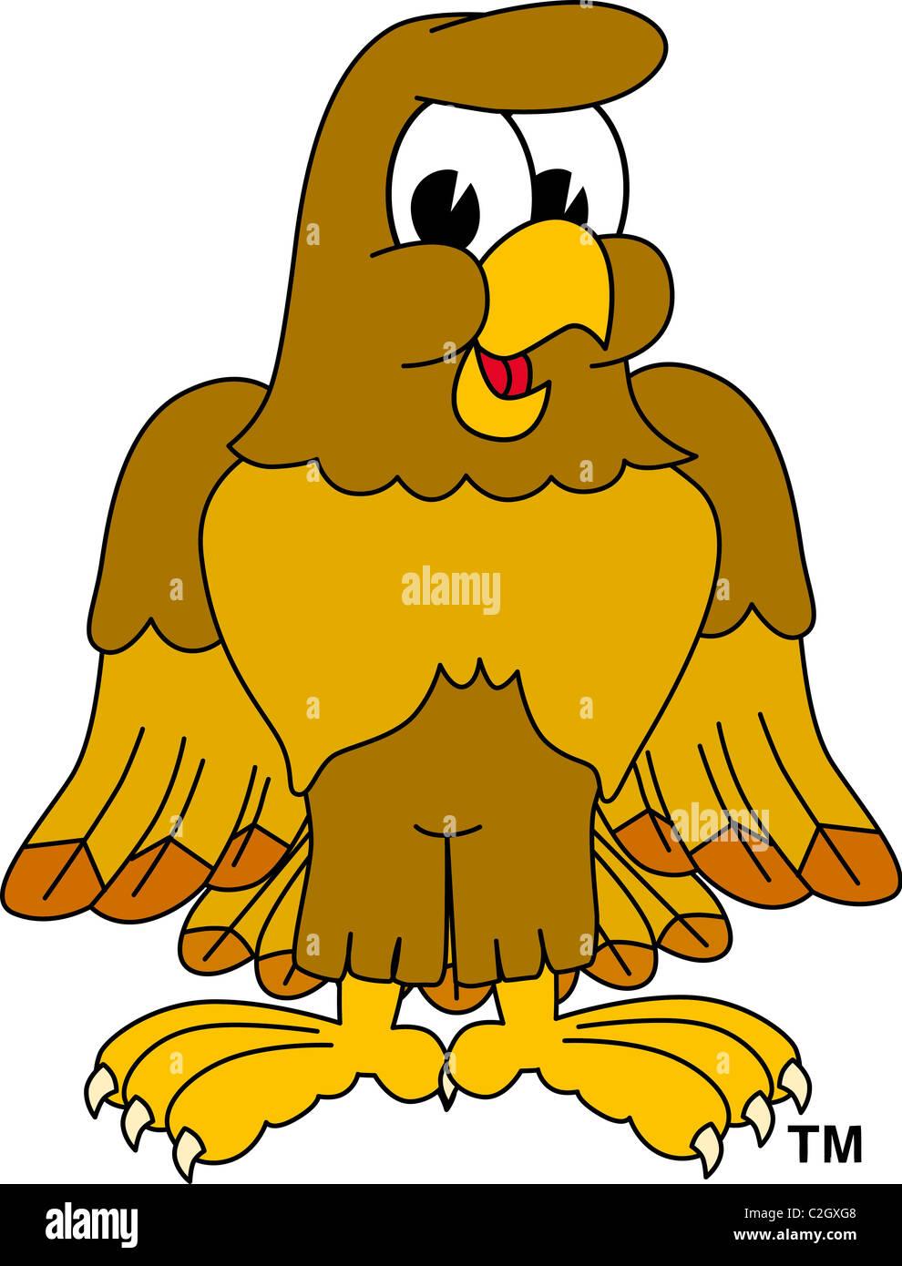hight resolution of cartoon hawk eagle or falcon mascot clip art