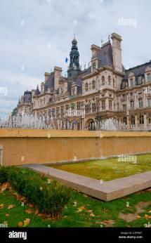 Paris City Hall Plaza Stock &