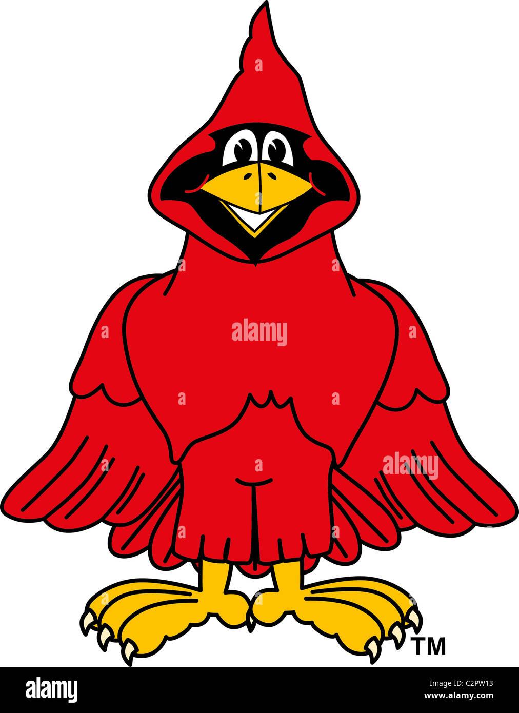 hight resolution of cartoon cardinal school mascot clip art