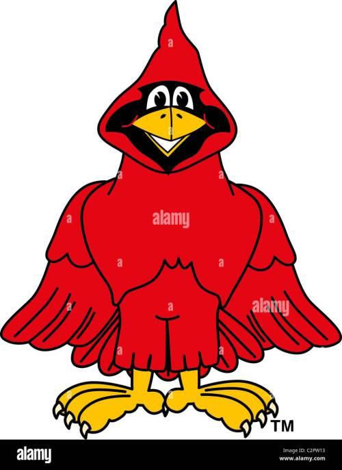 small resolution of cartoon cardinal school mascot clip art