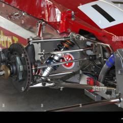 Auto Mobile Front End Diagram Wds Wiring Wheel Suspension On Formula 2 Race Car Stock Photo