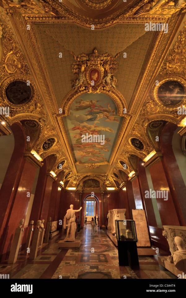 Louvre Museum Paris France Stock