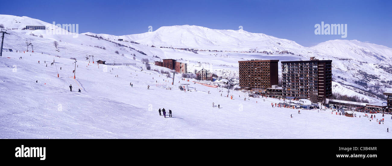 france savoie maurienne valley le corbier ski resort one of the sybelles area skiresorts