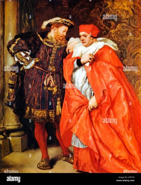 Henry Viii And Cardinal Wolsey Painting Sir John