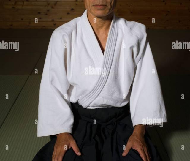 Aikido Master Kabayama Sensei In The Dojo Okinawa Japan