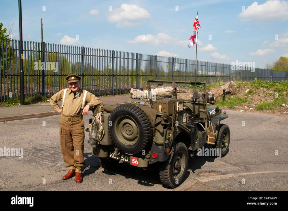 medium resolution of ford willys mb us army jeep c1941 5 at a ww2 parade miles platting manchester england uk