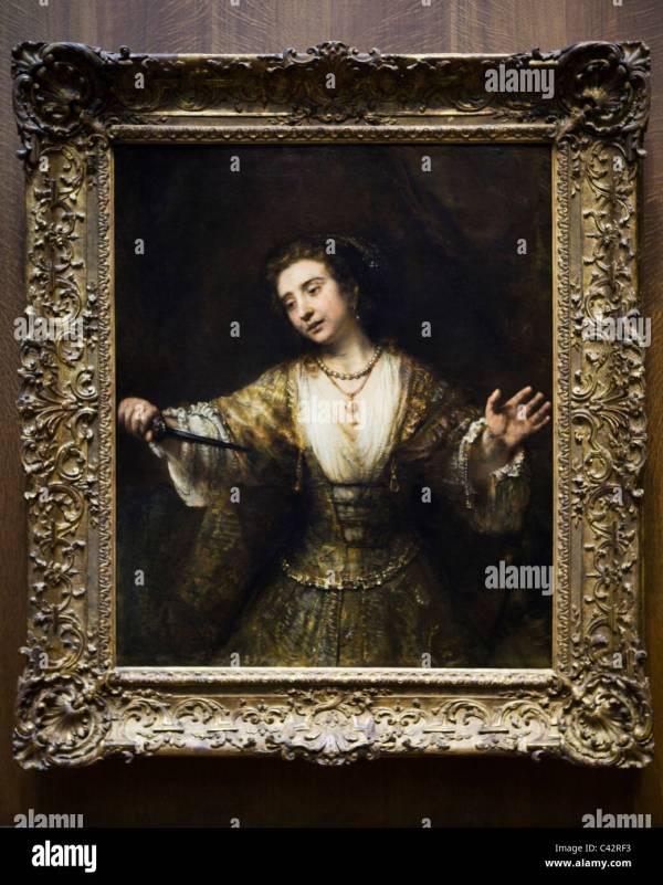 """""""lucretia"""" Rembrandt Van Rijn 1664 - Smithsonian"""