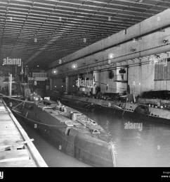 german u boats in a u boat bunker in france 1943 stock [ 1300 x 1104 Pixel ]