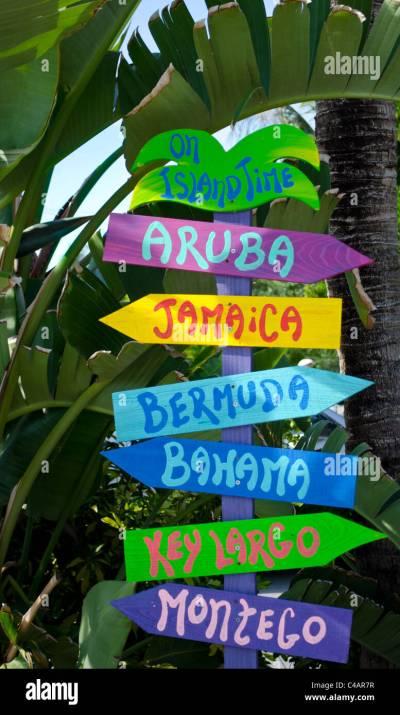 Tropical Directional Sign Pole - Based on Kokomo Beach ...