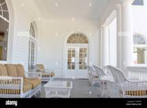 Front Porch Sitting Area In Of Stanley Hotel