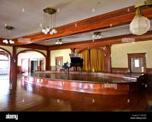 Stanley Hotel Ballroom Complete With Grand Piano Stock