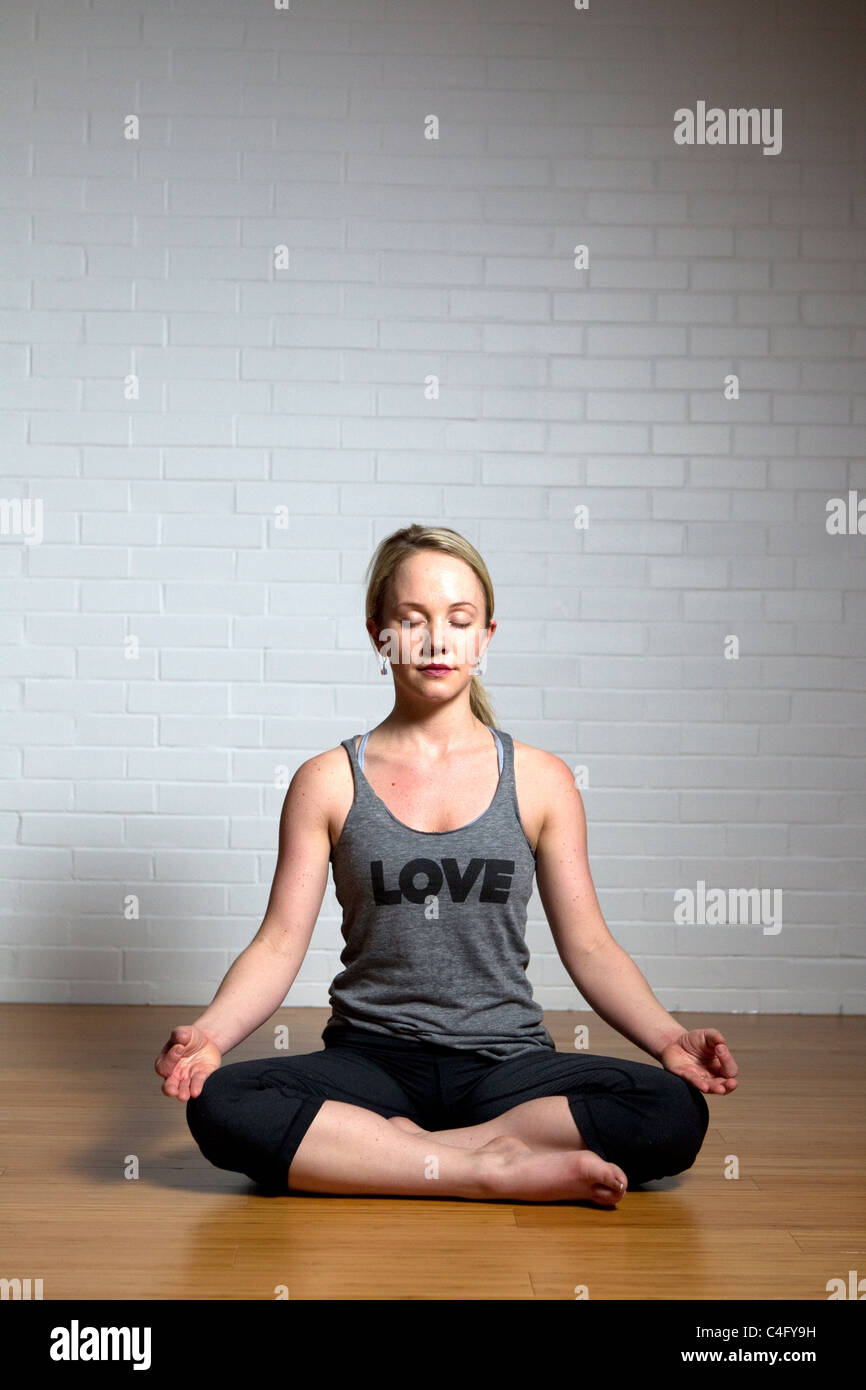Hot Woman Doing Yoga : woman, doing, Doing, Stock, Photo, Alamy