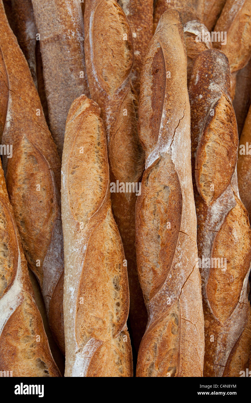 freshly baked french bread