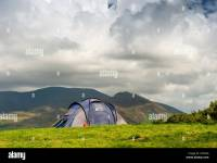 Tent Pitched By Lake Stock Photos & Tent Pitched By Lake