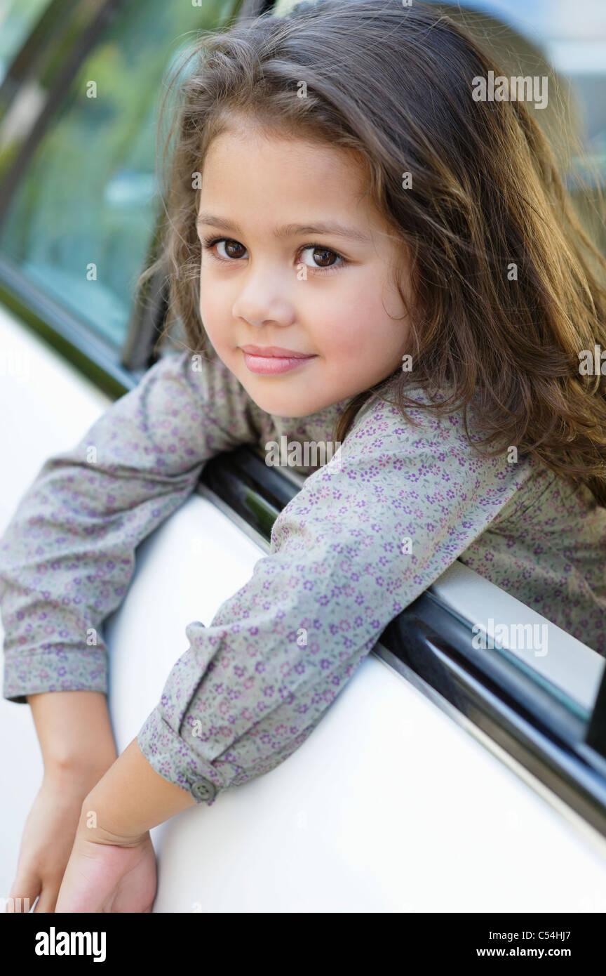 cute little girl looking